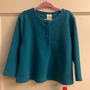Girls 24Months Zutano Cozie Fleece Swing Jacket